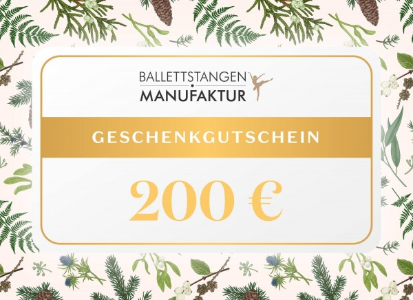 Geschenkgutschein 200 € Weihnachten