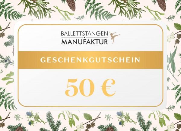 Geschenkgutschein 50 € Weihnachten