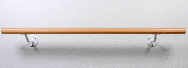 """Ballettstangen Set """"Standard"""", ca.200mm Wandabstand, """"B-Ware"""" mit weissen Haltern"""